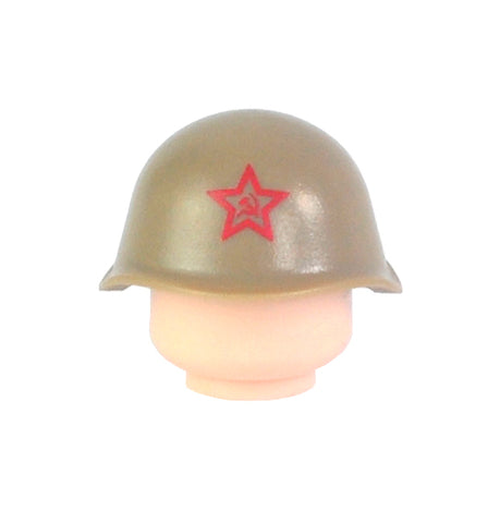 Russian SSh-40 Helmet - Dark Tan