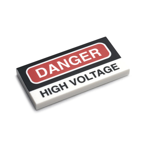 Danger High Voltage Tile