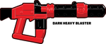 BrickArms Trooper Gear Dark Heavy Blaster