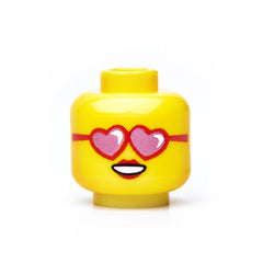Heart-Shaped Glasses Head - Yellow