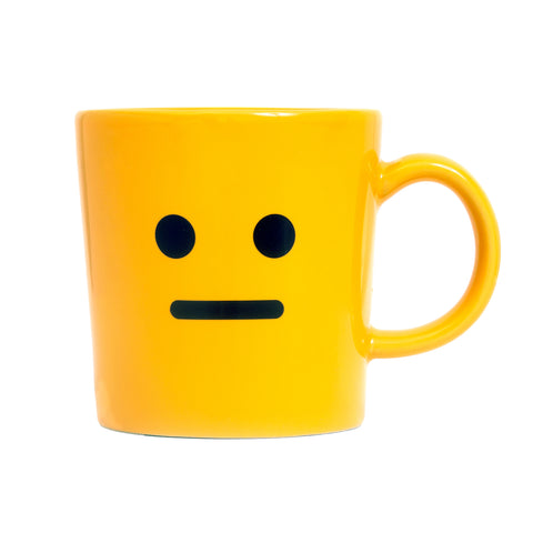 Yellow neutral mug front