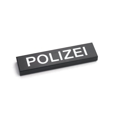 German Police Tile - Black
