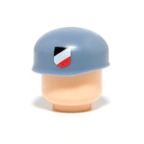 Fallschirmjäger Badge Helmet - Sand Blue