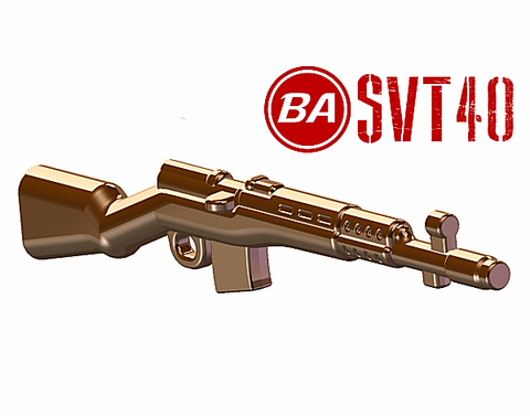 BrickArms SVT-40 Battle Rifle - Brown