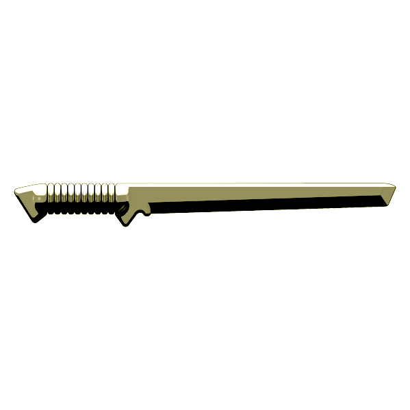 BrickArms Tactical Sword - Brass