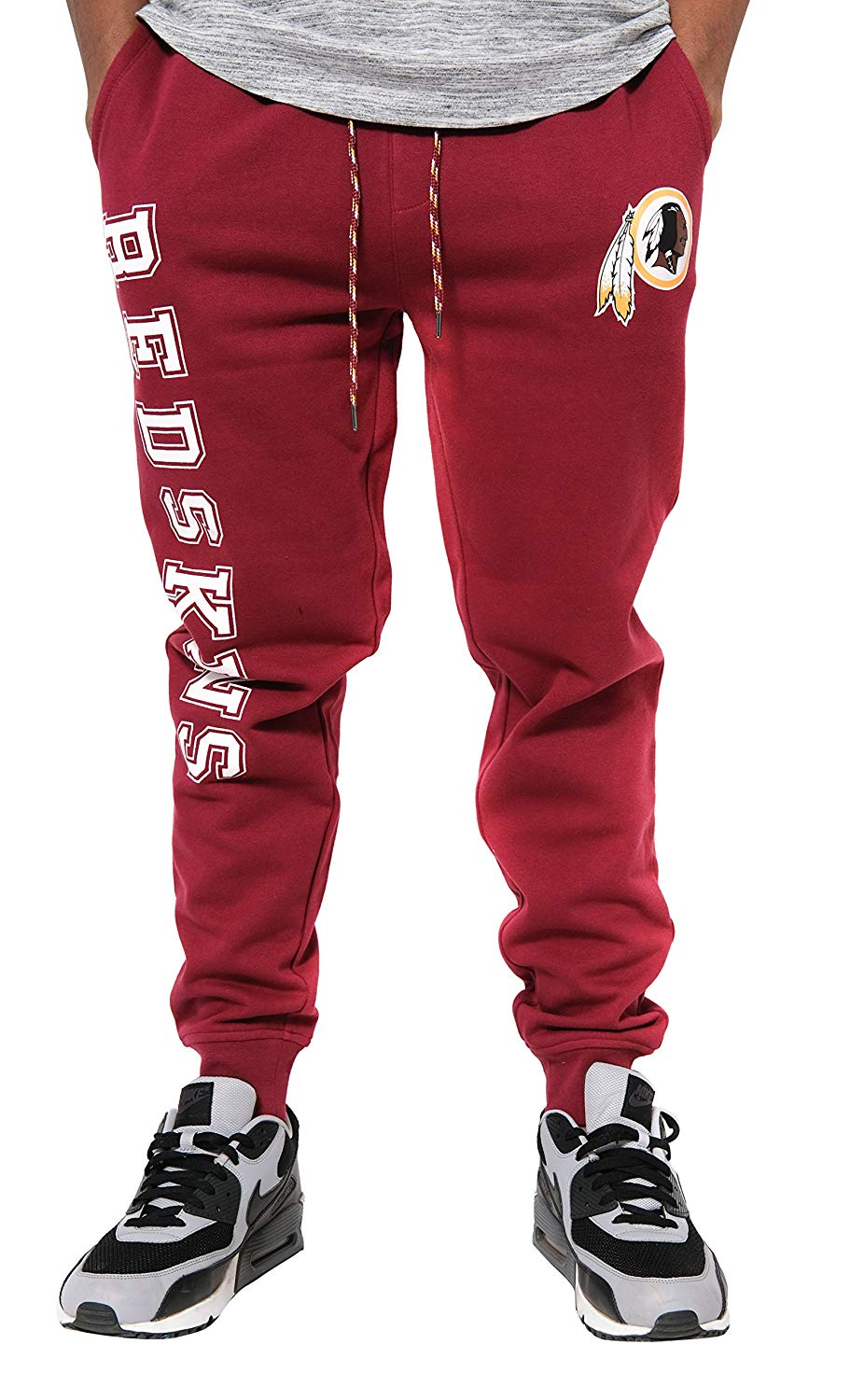 Ultra Game NFL Men's Active Fleece Jogger Sweatpants