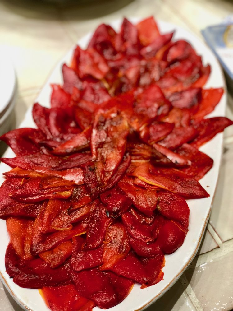 ROASTED LIPSTICK PEPPERS with PECORINO