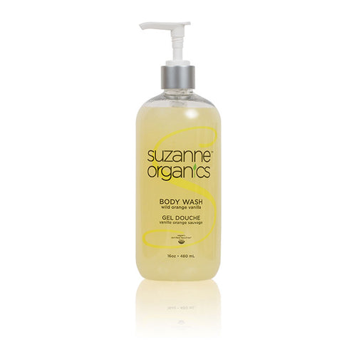 Skincare - SUZANNE Organics Salon Size Wild Orange Vanilla Body Wash
