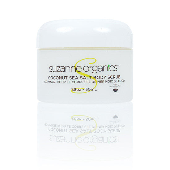 SUZANNE Organics Coconut Sea Salt Scrub – Travel Size (1.8 oz.)