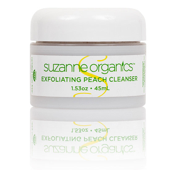 SUZANNE Organics Exfoliating Peach Cleanser - Travel Size (1.53 oz.)
