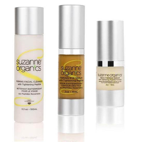 skincare - SUZANNE Organics Firming Peptide Kit - • Firming Facial Cleanser  • Firming Eye Serum  • Neck Firming Serum