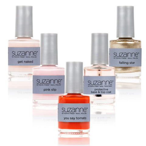 SUZANNE 10‐Toxin Free Nail Polish Complete 5‐Piece Set