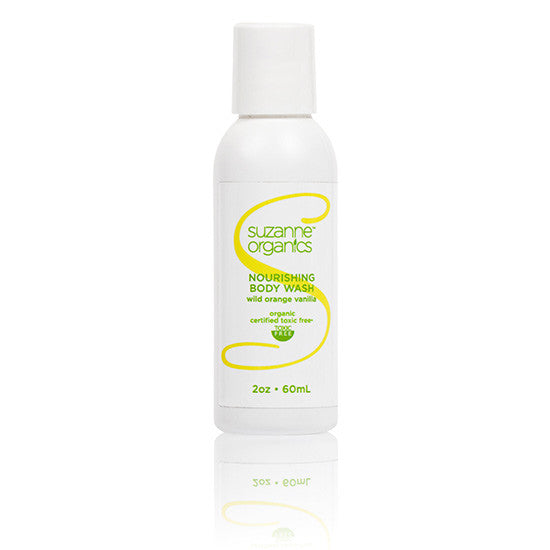 SUZANNE Organics Wild Orange Vanilla Body Wash - Travel Size (2 oz.)