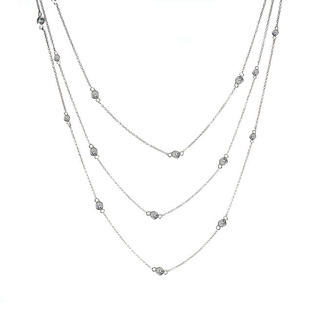 Suzanne Somers 60 Inch Bezel Necklace