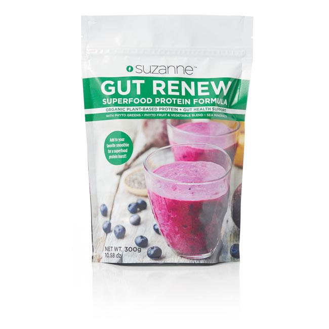 300 gram pouch of gut renew superfood protein powder