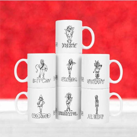 Accessories - 7 Dwarves Of Menopause Coffee Mug Set