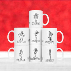 7 Dwarves of Menopause Coffee Mug Set