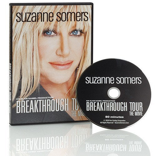 "A Landmark Women's Health Event – Available on DVD Suzanne Somers, one of America's most popular women's health advocates is bringing one of her most popular talks on aging and wellness to DVD. ""Suzanne Somers' BREAKTHROUGH Tour"" is an honest, engaging and often humorous discussion encouraging viewers to take charge of their health, recapture their youth and maintain their vitality. Suzanne's Lecture at the Movies was highly attended and viewers demanded it be brought to DVD. A must-see for men and women alike, ""Suzanne Somers' BREAKTHROUGH Tour"" provides an informative and engaging discussion about how she educated herself and took control of her health. Moviegoers will learn how Suzanne tackles difficult life experiences, including cancer, aging and menopause, and the daily steps she takes to stay ageless and vital in a toxic world. Suzanne also explains how men can maintain their vigor, libido, energy, and lust for life. Both women and men will come away from this experience wi"