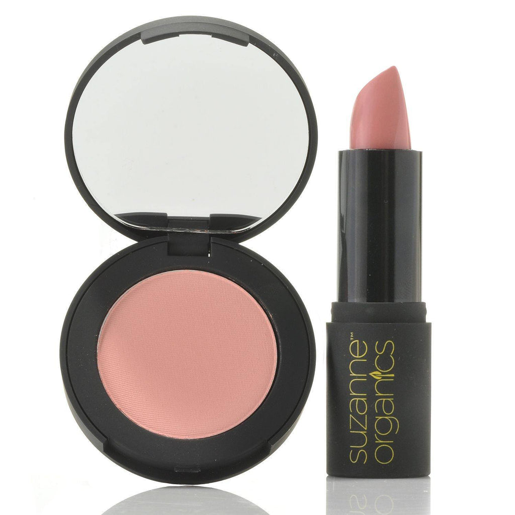 Cosmetics - SUZANNE Organics Sheer Satin Lipstick And Natural Blushing Powder Combo