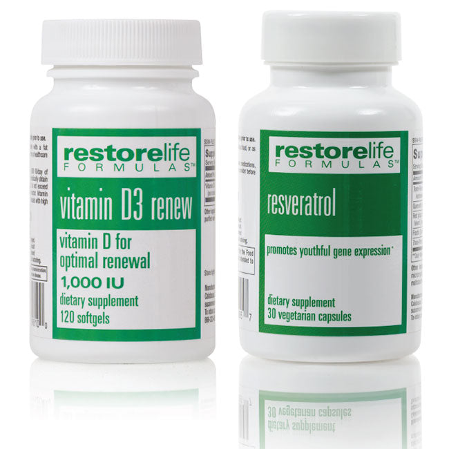 Restorelife Vitamin D3 5000 Iu Resveratrol Supplement Bundle Suzannesomers Com
