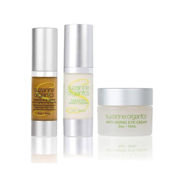 skincare - SUZANNE Organics Firming Eye Renewal Kit - • SUZANNE Organics Anti-Aging Eye Cream • SUZANNE Organics Firming Eye Serum with Tightening Peptide Formula • SUZANNE Organics Targeted Night Cream