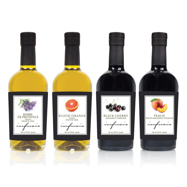 INFUSIO Aromatic Infused Extra-Virgin Olive Oil and Balsamic Fall 4-Pack