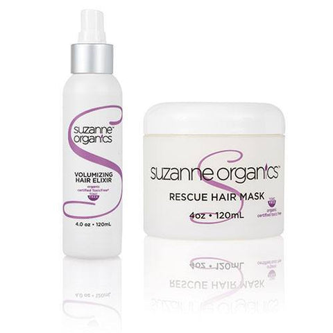 Haircare - SUZANNE Organics Rescue Hair Mask And Volumizing Hair Elixir Duo