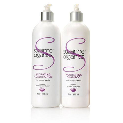 Haircare - SUZANNE Organics Salon Size (16 Ounces) Nourishing Shampoo And Hydrating Conditioner Duo