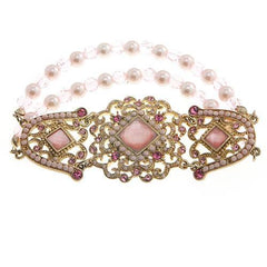 Antique Pink Beaded Bracelet