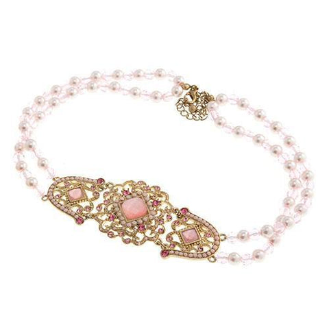 Jewelry - Antique Pink Beaded Necklace