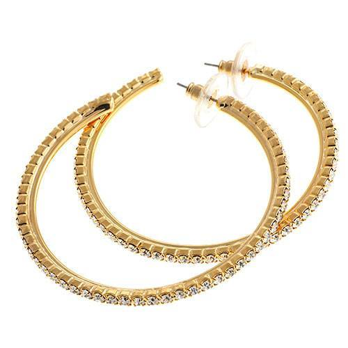 Jewelry - Brilliant Hoops Earrings – In Silver Or Gold Tone