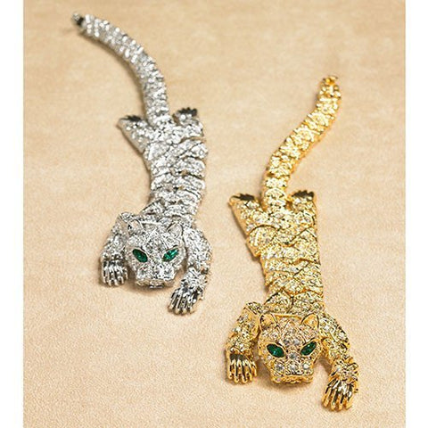 Jewelry - Crystal Gilded Glittering Tiger Bracelet