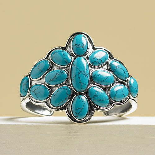 Jewelry - Navajo Inspired Turquoise And Silver Cuff