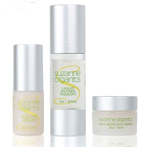 Skincare - SUZANNE Organics Anti-Wrinkle Arsenal Trio - Ageless Serum, Liquid Oxygen Therapy, Anti-aging Eye Cream