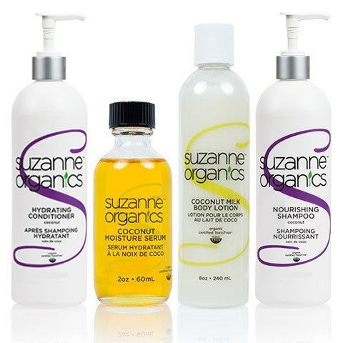Skincare - SUZANNE Organics Ultimate Coconut Skincare And Haircare Bundle - • SUZANNE Organics Coconut Oil Moisture Serum • SUZANNE Organics Coconut Milk Body Lotion • SUZANNE Organics Nourishing Coconut Shampoo (8 ounces) • SUZANNE Organics Nourishing Coconut Conditioner (8 ounces)