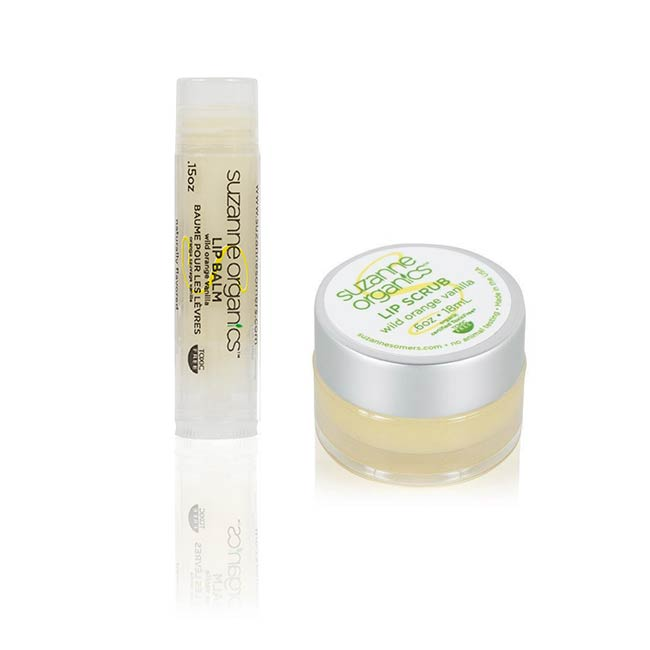 SUZANNE Organics Wild Orange Vanilla Lip Scrub and Lip Balm Duo