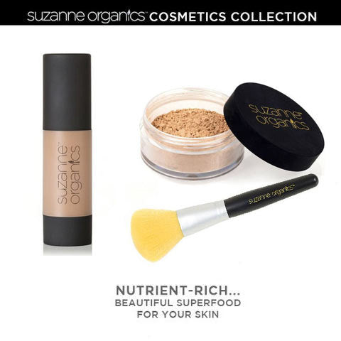 SUZANNE Organics Get Set Foundation & Honey Loose Powder Kit