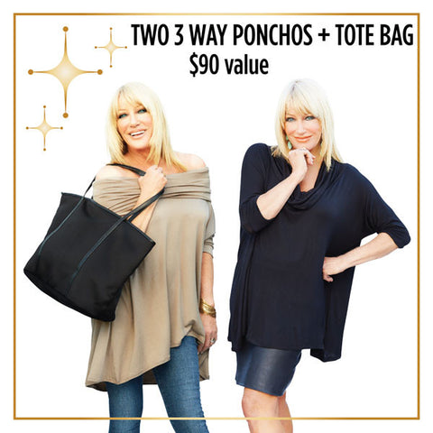 Everyday Tote and 3Way Poncho 2‑Pack Bundle