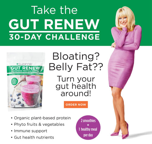 Bloating? Belly Fat?? Turn your gut health around! Organic plant-based protein • Phyto fruits & vegetables • Immune support • Gut health nutrients 2 smoothies plus one healthy meal per day