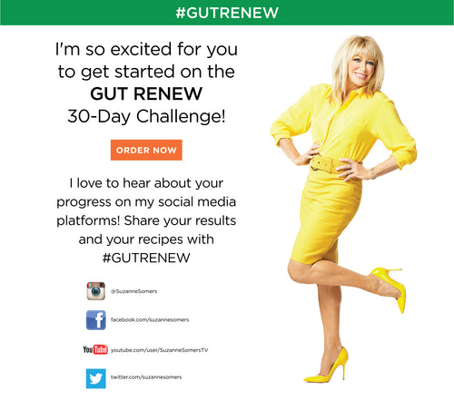 I'm so excited for you to get started on the GUT RENEW 30-Day Challenge. ORDER NOW. I love to hear about your progresson my social media platforms! Share your results and your recipes with #GUTRENEW