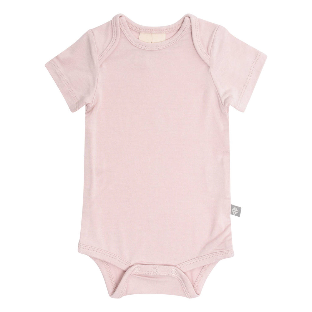 Kyte BABY Short Sleeve Bodysuit - Blush