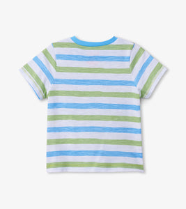 Hatley Pocket Graphic Tee - Sea Stripe