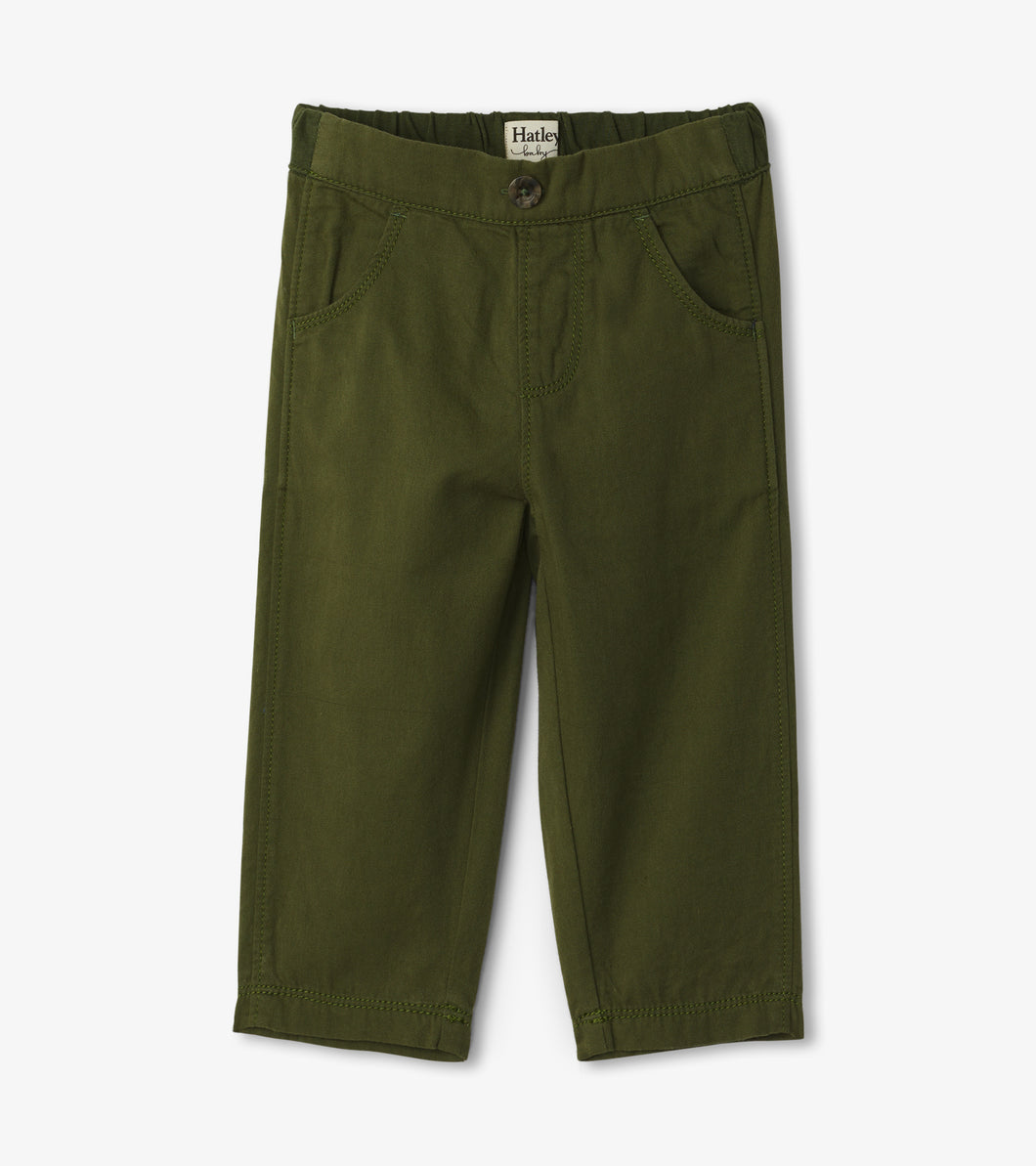 Hatley Baby Twill Pants - Jungle Green