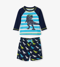 Load image into Gallery viewer, Hatley Baby Rashguard Set - Cool T-Rex