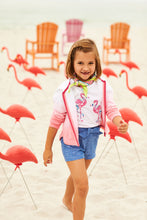 Load image into Gallery viewer, Hatley Flutter Sleeve Tee - Fancy Flamingo