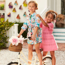Load image into Gallery viewer, Hatley Boho Trim Dress - Bubble Gum Pink