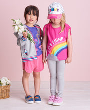Load image into Gallery viewer, Hatley Cinched Shoulder Tee - Rainbow Shine