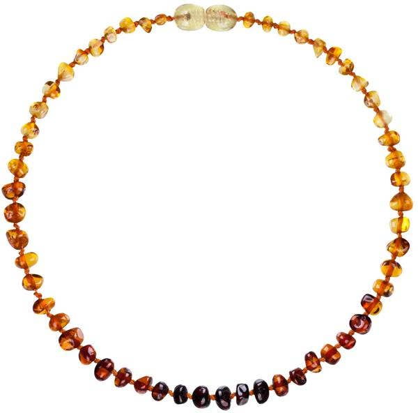 Powell's Owls Amber Teething Necklace - Rainbow