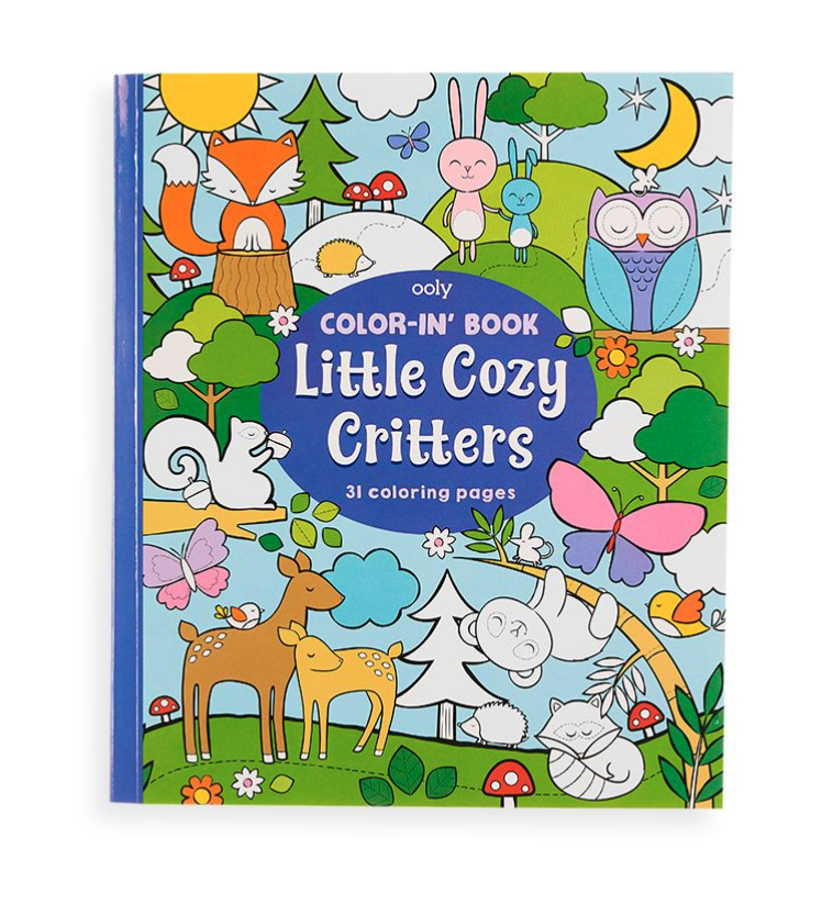 OOLY Color-in' Book - Little Cozy Critters