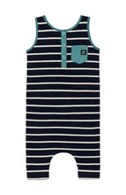 Load image into Gallery viewer, Rags Tank Henley Pocket Capri Rag - Stripe 101